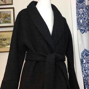 CHRISTIAN SIRIANO New York black belted wool coat